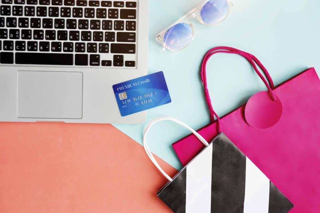 eshop bags and credit card