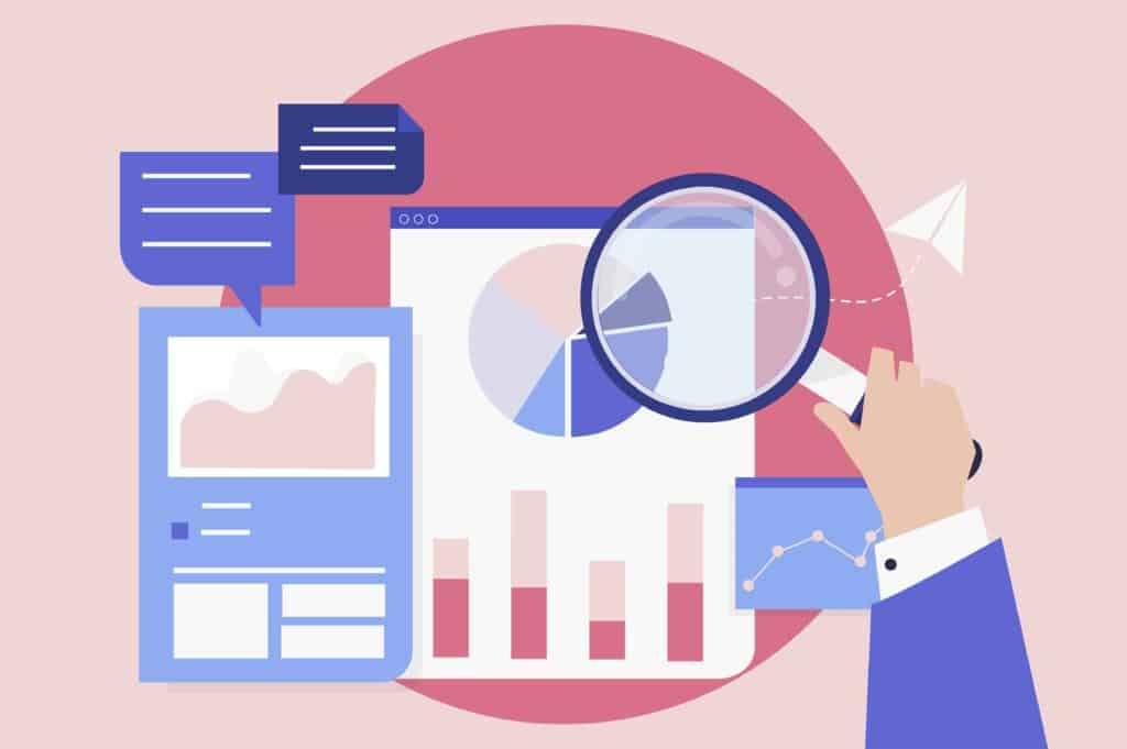 Business performance analysis with graphs for SEO