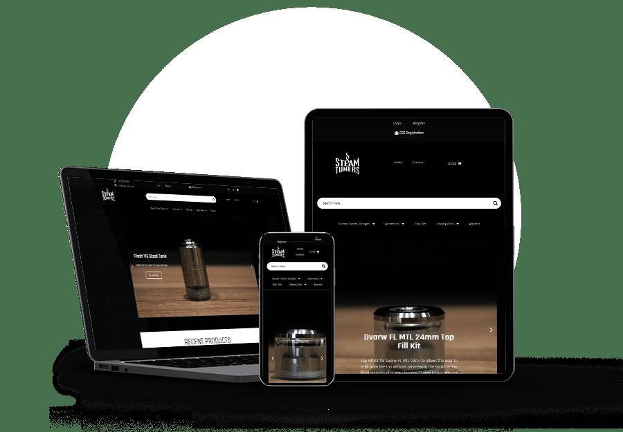 Steamtuners Website developed by Devseg