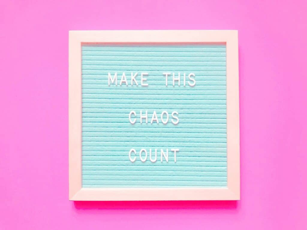 Make this chaos count, refering to instagram unorganized feed